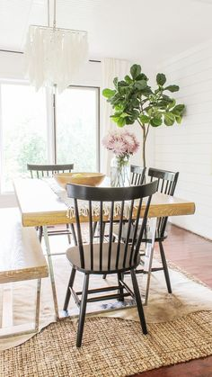 Where To Get Dining Chairs On The Cheap. Obsessed With This Modern  Farmhouse Decor.