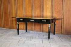 Early 20th century French later ebonised desk in the Empire taste, of good quality, with two brushing slides, retaining the original gilt bronze mounts. Antique Desk, Antique Furniture, French Antiques, Empire, Mid Century, Brushing, The Originals, Storage, Interior