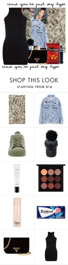 """""""Bodycon"""" by trilltommie ❤ liked on Polyvore featuring adidas, MAC Cosmetics, Chloé, Prada and New Look"""