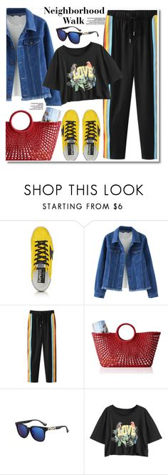 """Walk"" by paculi ❤ liked on Polyvore featuring Golden Goose, Mark & Graham, Summer and bikini"