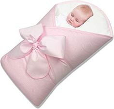 Bundlebee Baby Swaddle Blanket High Quality Cotton - Hypoallergenic - bow and beautiful packaging included - Back and NecK Support Insert ( months - Pink) First Aid For Kids, Kids Activity Books, Baby Swaddle Blankets, Baby Wraps, Baby Sleep, Baby Love, Cute Babies, Baby Gifts, 4 Months