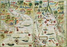 24x36 1570s Wall Map of Portugal 16th Century Portuguese Map