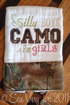 Silly Boys Camo Burp Cloth by SewVeryTeri on Etsy, $14.50...MEG!!!