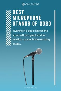 Looking to level up your home studio? Investing in one of the best microphone stands currently available will definitely be a great start. #home #studio #microphone #stands #best Singing In The Car, Learn Singing, Singing Tips, Home Studio Equipment, Home Studio Setup, Music Recording Equipment, Music Recording Studio, Happy Birthday Song Video, Singing Microphone