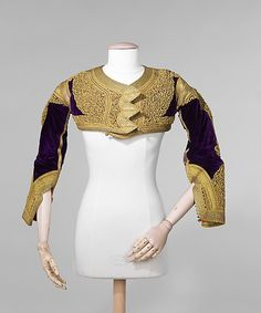Jacket from Albania, fourth quarter of the 19th C. - silk, metal, beads, cotton.