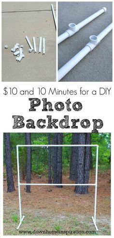 Easy PVC Pipe Photo Backdrop: - 48 DIY Projects out of PVC Pipe You Should Make