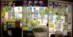 creative process | sticky notes of various shapes and sizes to outline writing