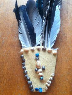 Feather Fan Deerhide Art with Seashells by RedEagleMedicine on Etsy https://www.etsy.com/ca/shop/RedEagleMedicine?coupon=FEATHERFREE