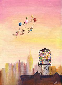 The Watertower Art Painting Gallery, Channel Art, Nyc Art, Kids Room Wall Art, Bathroom Art, Small Art, Mixing Prints, Kids Decor, Nursery Decor