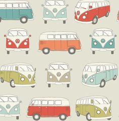 VW Campervan Fabric | Multi