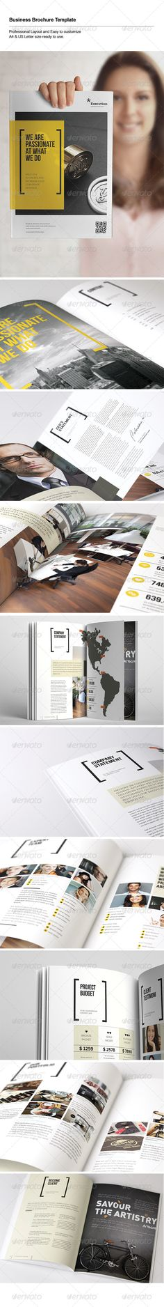 Professional and clean Business Brochure template that can be used for any type of Corporate • Only available here! → https://graphicriver.net/item/business-brochure/5575406?ref=pxcr