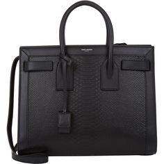 Saint Laurent Python-Stamped Small Sac De Jour Carryall at Barneys.com