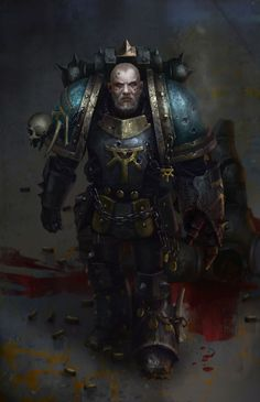 Serghar Targost - Captain of the 7th Company and the Lodge Master of the Sons of Horus' warrior lodge, the heart of the Legion's growing allegiance to the Chaos Gods.