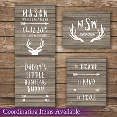 Hunting nursery, nature nursery, wood decor