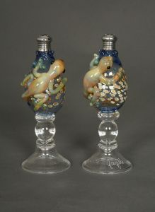 Pair of Hand Blown Glass Gecko Salt and Pepper Shakers. $124.95. www.ctlighting.com #holidaygifts