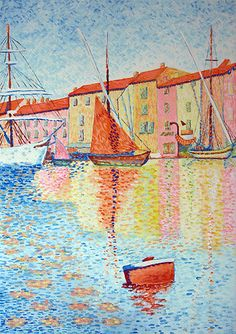 Paul Signac (French: 1863 – was a French neo-impressionist painter who, working with Georges Seurat, helped develop the pointillist style. Georges Seurat, Albertina Wien, Paul Signac, Art Moderne, Art For Art Sake, Claude Monet, French Art, Art Plastique, Oeuvre D'art