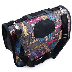 New Arrival Pet Dog Carrier Travel Portable Bag Breathable Animal Printed Bag Outdoor