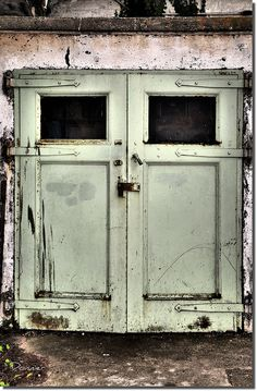 These are the doors leading to the Morgue at Alcatraz.