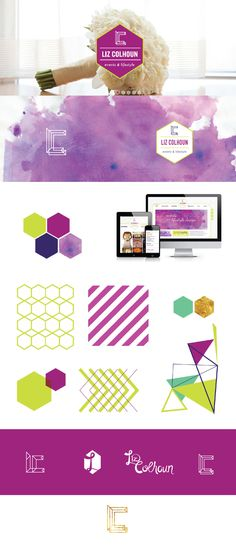 Our branding inspirations :: colors, patterns, fonts and logos for Liz Colhoun Events & Lifestyle Brand!