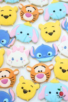 Disney Tsum Tsum Cookies drawn by freehand
