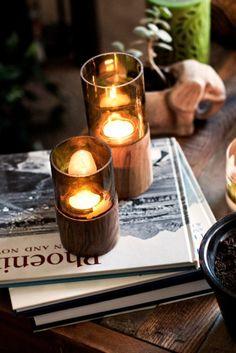 wine bottle glass & stumps.