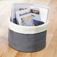 Look At This Gray U0026 Ivory Large Knit Round Bin