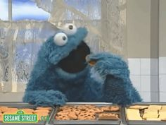 cookie monster cookies GIF by Sesame Street Funny Cartoon Gifs, Funny Cat Memes, Funny Cartoons, Memes Humor, Funny Shit, Funny Quotes, Ice Cream Wallpaper Iphone, Sour Cream Cookies, Sesame Street Muppets