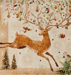 Holiday Reindeer #christmas #illustration
