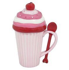 I so need this cupcake coffee mug! How Cute!