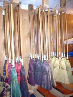 DESPERATELY NEED one of these dyed brooms by Barbara Barrett, PA Wilds Artisan!