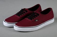 Vans Shoes Burgundy Authentic Unisex Classic Canvas Sneakers $26.90