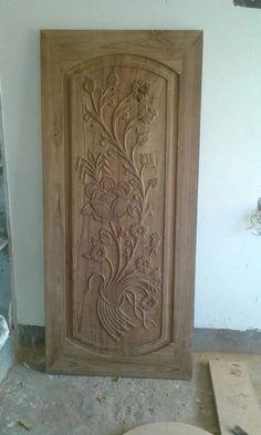 Blue Colour Images, Modern Wooden Doors, Wooden Main Door Design, House Front Design, Carving Designs, Woodcarving, Ceiling Design, Cnc, Wood Front Doors