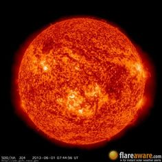 The hourly sun (at 07:44 am  UTC on  1 June 2013)