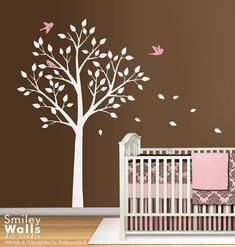 tree wall decal for girl nursery