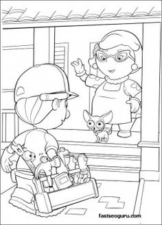 Handy Manny and Mrs Portillo Characters Coloring Pages - Printable Coloring Pages For Kids
