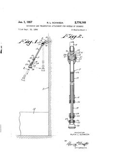 Patent - Extension and telescoping attachment for nozzle of showers - Multiple Images