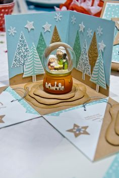 wertschatzTeamtreffen_SU_15 Stampin Up Christmas, Handmade Christmas, Christmas Crafts, Pop Up Cards, Xmas Cards, Exploding Gift Box, Card In A Box, Diy And Crafts, Paper Crafts