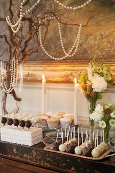 Great Gatsby Theme - dessert table