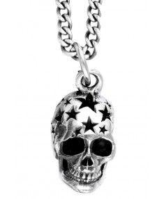 King Baby - Small All Star Skull Pendant Mens Designer Jewelry, Designer Clothes For Men, Jewelry Design, Skull Pendant, Pendant Jewelry, London Clothing Stores, King Baby Jewelry, Star Necklace, Jewelry Branding