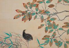 横山大観 Yokoyama Taikan『鶉』(1925)水野美術館蔵