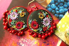 embroidered earrings by jennifer morris