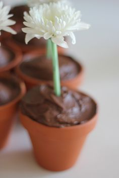 Easy Flower Pot Cupcakes - The Imagination Tree