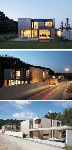 Zamel Krug Architekten have designed two houses beside each other in Hagen, Germany.