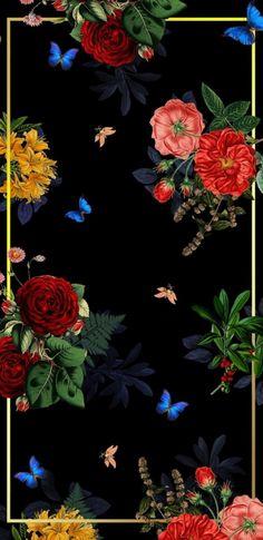 Gucci Wallpaper: Wallpaper…By Artist Unknown… Best Flower Wallpaper, Floral Wallpaper Iphone, Flowery Wallpaper, Travel Wallpaper, Rose Wallpaper, Wallpaper Backgrounds, Handy Wallpaper, Computer Wallpaper, Mobile Wallpaper