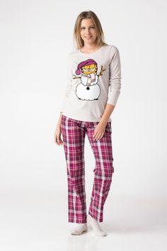 Bordo Kadın Garfield Baskılı Pijama Takımı 349177 | DeFacto