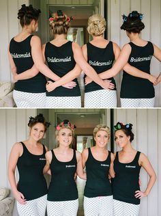 "I like the ""front"" and ""back"" if the girls getting ready - add a third photo - in their dresses."