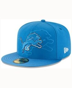 New Era Detroit Lions Sideline 59FIFTY Cap - Blue 7 1 4 Snapback And Tattoos 2cc85eab46a