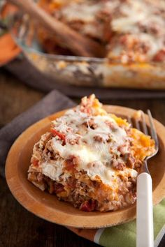 Oh, I love lasagna, and you will never see me making turkey lasagna or vegetarian lasagna. I make it maybe once a year and when I do I don't want to leave out any of the cheeses or ground beef which, imo, make it so rich and delicious.