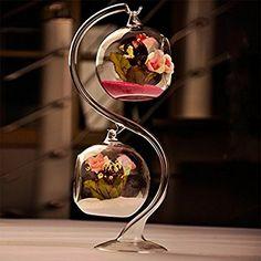 Hanging Glass Terrarium Air Plant Vase /Votive Holder Home Deco