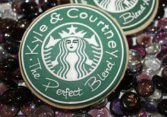 Starbucks cookies~                     The Perfect Blend                          By thehungryhippopotamus, green, white, round